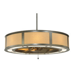 "Meyda Lighting - Meyda Lighting 130693 44.5""W Maplewood Eggshell Fabric Chandel-Air - Meyda Lighting 130693 44.5""W Maplewood Eggshell Fabric Chandel-Air"