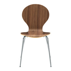 LexMod - Insect Side Chair in Walnut - For true flights of fancy, no house is complete without an Insect Chair. Good for dinning room or living room, this creatively styled piece is sure to draw attention and admiration.