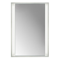 Tech Lighting - Tech Lighting Siber Mirror Recessed - Rectangular mirror surrounded by a cove of diffused white light. Provides shadow-free task and ambient light.