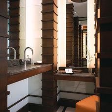 Contemporary Powder Room by alene workman interior design, inc