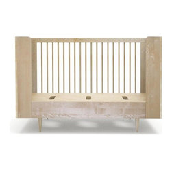 Spot on Square - Ulm Crib Conversion - The Spot on Square Ulm Daybed Conversion is made from sustainably harvested solid birch, offering a stylish and durable solution that will extend the life of your Ulm crib. Made to convert your Ulm Crib into a daybed by easily removing one side and replacing it with the conversion panel.
