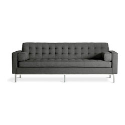 Gus Modern - Gus Modern Spencer Sofa in Totem Storm - Here's one cool couch for your favorite modern setting. With sleek lines, firm, blind-tufted cushions (plus two bolsters) and a stainless steel base, this design evokes a vibe of casual refinement and comfortable elegance.