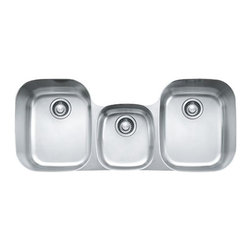 Franke - Triple Bowl Under mount Sink - Franke RGX170 Regatta Triple Bowl Undermount Sink