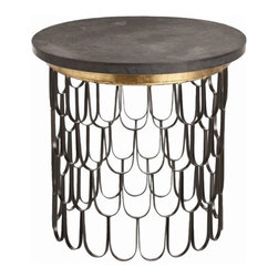 ARTERIORS Home - End Table - Features: -Material: Iron / marble.-Distressed: No.