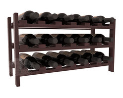18 Bottle Stackable Wine Rack in Redwood with Walnut Stain + Satin Finish - Expansion to the next level! Stack these 18 bottle kits as high as the ceiling or place a single one on a counter top. Designed with emphasis on function and flexibility, these DIY wine racks are perfect for young collections and expert connoisseurs.