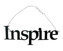 'Inspire' Metal Wall Hanging - This listing is for one inspirational word, INSPIRE
