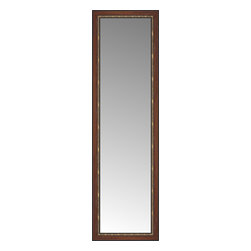 """Posters 2 Prints, LLC - 24"""" x 78"""" Malabar Walnut Custom Framed Mirror - 24"""" x 78"""" Custom Framed Mirror made by Posters 2 Prints. Standard glass with unrivaled selection of crafted mirror frames.  Protected with category II safety backing to keep glass fragments together should the mirror be accidentally broken.  Safe arrival guaranteed.  Made in the United States of America"""