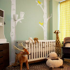 Birch Tree with Owl and Birds Wall Decal - Add the perfect finishing touch to the PERFECT nursery with this set Birch Tree with Owl and Birds decal set!  Customize the colors to give it a warm or modern touch!
