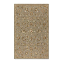 Uttermost - Uttermost Torrente 8 x 10 Rug - Light Gray 73024-8 - Light Gray Wool With Beige And Olive Details And Rust Accents.