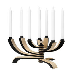 Nordic Light Candle Holder: 7-Arm - The heavy nordic influence of this candelabra means that is is not only stunning but also that practicality and versatility are naturally integral in its design. Notice how the arms swivel to any position you want.