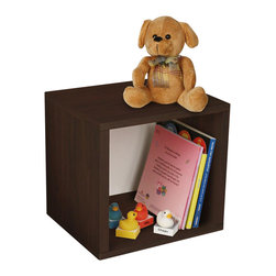 Way Basics - Eco-Friendly Storage Cube in Espresso - Includes one double-sided backer board. Water resistant. Completely recyclable. Super strong 3M heavy duty adhesive bonds the boards together. Formaldehyde free and VOC free so it's safe for family and environment. Warranty: One year. Sustainably made from zBoard - recycled paper. Inside: 11.22 in. W x 11.81 in. D x 11.22 in. H. Overall: 11.2 in. W x 13.4 in. D x 12.8 in. H (4.67 lbs.). Assembly InstructionsStackable Modular Storage Cubes. Simple design solution and eco friendly furniture. An excellent home organizer for modern living. Behold, our most basic creation flexing its muscles. Truly modular in every sense of the word, there are endless configurations and possibilities for the design guru. Each Cube is separate from each other so you can satisfy your design itch when you feel like changing things up a bit. Stack them side to side, on top of each other or get creative and build a pyramid and ladder design. Mix and match colors or just keep it simple with a single shade. To assemble zBoard storage products, simply peel, stick, done! Tool-free and hardware free.