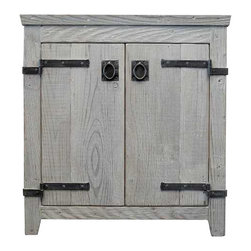 "Native Trails - Native Trails 30"" Americana Vanity in Driftwood - *Crafted from recycled wood for exceptional strength"