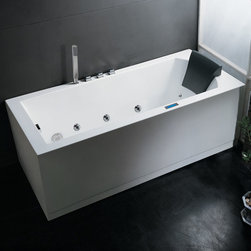 """Atlas International - Ariel Platinum AM154 59"""" R Whirlpool Bathtub - Take a dip in this elegant whirlpool bathtub. Equipped with hydro-massage jets designed to target your pressure points for a relaxing experience."""