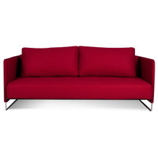 Modern Sofas Merlin Red Sleeper Couch