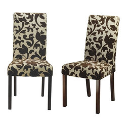Safavieh Furniture - Hutchinson Upholstered Chair - Set of 2 - Set of 2. Upholstered dining chairs. Classical contemporary style. Made from solid beech wood. Cream color. No assembly required. 24 in. W x 19 in. D x 39 in. H (30 lbs.)