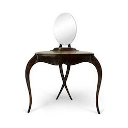 EcoFirstArt - Vanity Fair Dressing Table - As the lady of the house, you'll surely enjoy the time you spend with this ladylike fixture. Chic mahogany, sophisticated lines and signature Chris-X legs work in tandem to yield an extraordinary dressing table that is both classic and cutting edge at the same time. Boasting an oval mirror and a handy fabric-lined drawer, you might've just stumbled upon your soul mate, since she's as fair as thou art.