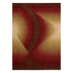 "Nourison - Nourison Radiant Arts RA04 (Ruby) 3'6"" x 5'6"" Rug - Artwork worthy of any modern museum collection, these designs are seemingly painted from prisms of bending light. Subtle differences in hues create these stylish artistic effects."