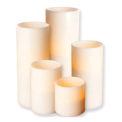 Flameless Candle With 5-Hour Timer - These flameless candles are made of real smooth wax.