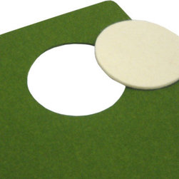 The Felt Store - Olive Designer Felt  Placemat With White Coaster 13.75 x 17.75 Inch - Decorate your home with environmentally friendly, yet beautiful furnishings! The Designer Felt Placemat and Coaster is made of 100% wool Designer Felt, showcasing the natural beauty of felt. You choose the color of the die cut coaster to create your very own color contrast. The Designer Felt is water resistant, adding enhanced longevity to your placemats. Cut with a rounded edge and dyed in rich hues, the Designer Felt Placemat and Coaster set have a modern yet natural look to complement any home. Placemat is approximately 13.75 inches x 17.75 inches at 3mm thick, and the coaster is 3.5 inches in DIA and 3mm thick.