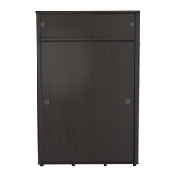 Inval America - Armoire with Four Sliding Doors - This beautiful and modern Armoire is a functional storage solution for any home.