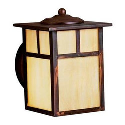 Kichler Lighting - Kichler Lighting 10962CV Alameda Arts and Crafts/Mission Outdoor Wall Light - Kichler Lighting 10962CV Alameda Arts and Crafts/Mission Outdoor Wall Light - Small In Canyon View
