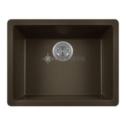 PolarisSinks - Polaris P808M Mocha Single Bowl AstrGranite Kitchen Sink - Our Granite sinks come in four beautiful colors to match any countertop; black, white, mocha and beige. Our Granite line is made with 80% Quartzite and 20% Acrylic. They also have silver ions in the sink which kills 99% of bacteria on contact. Granite sinks are the most durable option for a kitchen sinks. They are extremely scratch resistant, can withstand heat up to 550 Degrees and are unaffected by household acids and cleaners. The granite is also completely stain resistant. The acrylic acts as a natural sound dampener making the sinks very quiet. Our Granite sinks are covered by a limited lifetime warranty. Each sink come with a cardboard cutout template and mounting hardware.