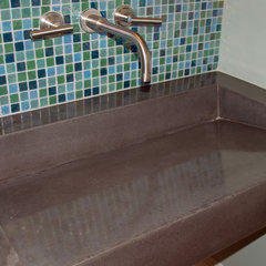 modern bathroom sinks by Coastal Concrete Design