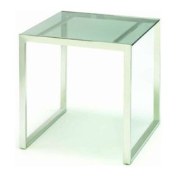 TFG Furniture - Lexington End Table - TFG Furniture Lexington End Table. Sturdy polished stainless steel frame. Coated tempered glass top. Adds a modern look to any room in your house. Some assembly required. Wipe clean with damp cloth.