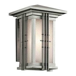 Kichler Lighting - Kichler Lighting 49159SS Portman Square Stainless Steel Outdoor Sconce - Kichler Lighting 49159SS Portman Square Stainless Steel Outdoor Sconce