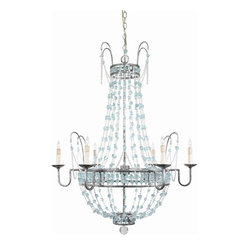 Versailles Aqua Glass Chandelier