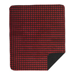 Denali Throw Blanket, Red-Black Buffalo Check/Black - Denali micro plush throws are considered the Cadillac of throws due to their rich colors and soft feel. These throws are softer and warmer than fleece.