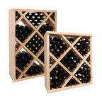 Wine Cellar Innovations - Vintner Wine Rack - Diamond Bin Wine Rack - Solid Diamond Bins organize case wine storage in an attractive, popular, and practical style. The decorative face trim adds to the_sturdy appearance and is a finishing detail only previously offered on our top of the line custom racking. The Diamond Bin Face Trim needs to be cut to fit on site. Purchase two to stack on top of each other to maximize the height of your wine storage. Moldings and platforms sold separately. Assembly required.