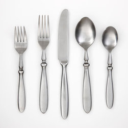 Townhouse Satin 20 Piece Set - I have a flatware set similar to this and I adore it. The style is casual enough for everyday use but can get dressed up depending on the rest of the tableware. It's classic, simple, and for me, just right.