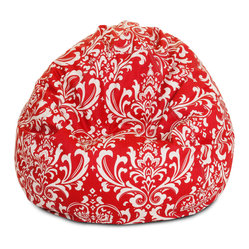 Outdoor Red French Quarter Small Bean Bag