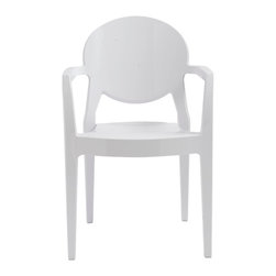 Eurostyle - Igloo Armchair (Set of 4) - Gloss Steely White - Recyclable polycarbonate