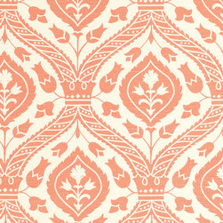 """Ballard Designs - Holland Apricot Fabric by the Yard - Content: 100% Cotton. Repeat: Non-railroaded fabric, 13 1/2"""" repeat. Care: Dry Clean. Width: 54"""" wide. Soft apricot and cream tulip floral printed on crisp 100% cotton.  .  .  .  . Because fabrics are available in whole-yard increments only, please round your yardage up to the next whole number if your project calls for fractions of a yard. To order fabric for Ballard Customer's-Own-Material (COM) items, please refer to the order instructions provided for each product.Ballard offers free fabric swatches: $5.95 Shipping and Processing, ten swatch maximum. Sorry, cut fabric is non-returnable.."""