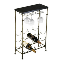 Cyan Design - Urban Wine Table - Urban wine table - antique flemish and black