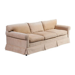 Custom Made Golden Chenille Sofa - $3,250 Est. Retail - $899 on Chairish.com
