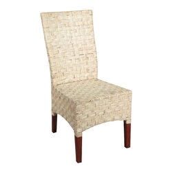 MBW Furniture - Solid Mahogany Checkerboard Woven Wicker Occasional Parson Side Chair - This product is finely constructed from top grade kiln-dried Solid Mahogany. Artisans use the old world method of tongue and groove and mortise and tenon joinery to create this beautiful and durable piece of furniture. Its superb hand-crafted quality will add a touch of elegance to your home.