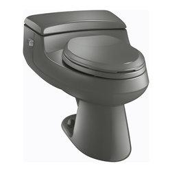 KOHLER - KOHLER K-3597-58 San Raphael Comfort Height One-Piece Elongated 1.0 GPF Toilet - KOHLER K-3597-58 San Raphael Comfort Height One-Piece Elongated 1.0 GPF Toilet with Pressure Lite Flush Technology in Thunder Grey