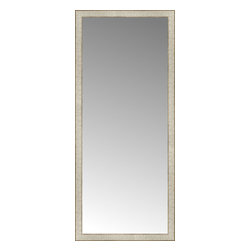 """Posters 2 Prints, LLC - 25"""" x 57"""" Libretto Antique Silver Custom Framed Mirror - 25"""" x 57"""" Custom Framed Mirror made by Posters 2 Prints. Standard glass with unrivaled selection of crafted mirror frames.  Protected with category II safety backing to keep glass fragments together should the mirror be accidentally broken.  Safe arrival guaranteed.  Made in the United States of America"""