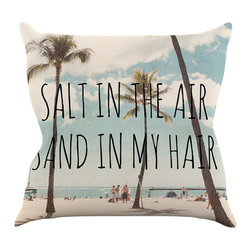 """KESS InHouse - Nastasia Cook """"Salt in the Air"""" Beach Trees Throw Pillow, 26""""x26"""", Indoor - Rest among the art you love. Transform your hang out room into a hip gallery, that's also comfortable. With this pillow you can create an environment that reflects your unique style. It's amazing what a throw pillow can do to complete a room. (Kess InHouse is not responsible for pillow fighting that may occur as the result of creative stimulation)."""