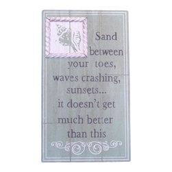 "Handcrafted Model Ships - Wooden Sand Between Your Toes Beach Sign 15"" - Wooden Beach Sign - This Wooden Sand Between Your Toes Beach Sign 8"" is a great addition to a beach themed home. Perfect for welcoming friends and family, or showing your community your affinity for the beach. This sign is sure to brighten your day. Place this beach sign up wherever you may choose, and enjoy its wonderful style and the delightful beach atmosphere it brings."