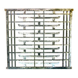 Pair of Asian Wall Screens or Room Dividers - These floor screens/room dividers were created out of wood and are replete with Asian design symbols. The peeling paint adds to their mystery and charm. I would love to see these in a contemporary room as an unexpected contrast to sleek modern furnishings.
