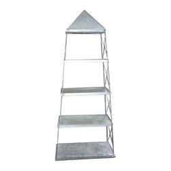 Silk Plants Direct - Silk Plants Direct Rectangle Galvanized Obelisk Shelf (Pack of 1) - Pack of 1. Silk Plants Direct specializes in manufacturing, design and supply of the most life-like, premium quality artificial plants, trees, flowers, arrangements, topiaries and containers for home, office and commercial use. Our Rectangle Galvanized Obelisk Shelf includes the following: