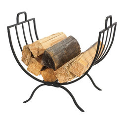 Panacea - John Log Holder - This is smart-looking fireplace log holder that will look great in many settings. The multiple slats allow long an shorts logs to rest in its curves. It can be easily stored during the off season becuase it is foldable. Nice set for a nice price. Recommended for indoor use.