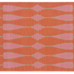 Ama Cotton Flatweave Rug from Madeline Weinrib Atelier - I love this classic pattern it almost looks like something you would find on a vintage scarf. Love pink.