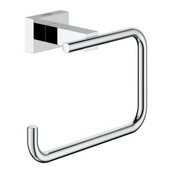 Grohe - Grohe 40507000 Essentials Cube Toilet Paper Holder - Essentials Cube toilet paper holder belongs to Eurocube Collection by Grohe Grohe bathroom accessories meet the challenge of upscale bathroom design by providing the finishing touches that create a perfectly-designed bathing and showering experience. Perfection in beauty lies in attention to detail and a bathroom is not complete, much less perfect, without matching Grohe accessories.  Toilet Paper Holder (1)