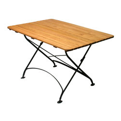 Haste Garden - Haste Garden Rebecca Rectangle Table, Solid Top - - The black frame is made from steel, powder-coated and baked-on enamel paint for outdoor use.