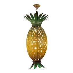 """Meyda Lighting - Meyda Lighting 120536 15""""W Welcome Pineapple Pendant - Meyda Lighting 120536 15""""W Welcome Pineapple Pendant"""